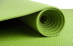 Green Yoga Mat Royalty Free Stock Photography