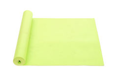 Green yoga mat Royalty Free Stock Image