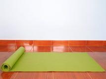 Green Yoga mat Stock Photos