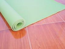 Green Yoga mat Royalty Free Stock Photo