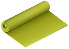 Green yoga mattress roll Stock Photo