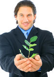 Green Young Businessman Royalty Free Stock Photos