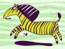 Green Zebra Royalty Free Stock Photo