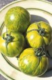 Green Zebra tomatoes Royalty Free Stock Photo