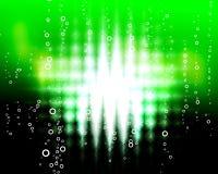 Green zigzag  blast Stock Image