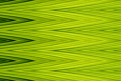 Green zigzag wave sharp art abstract background (Made from banana leaves) Stock Images