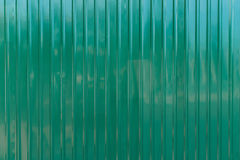 Green zinc wall Royalty Free Stock Photography