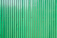 Green zinc wall Royalty Free Stock Image