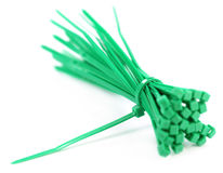 Green zip tie Stock Photos
