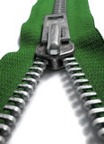 Green zipper Stock Image