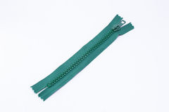Green zipper Royalty Free Stock Image
