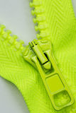 Green zipper Stock Photos