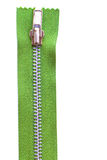 Green zipper Stock Images