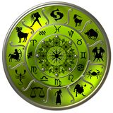 Green Zodiac Disc Stock Photography