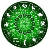 Green Zodiac Disc Royalty Free Stock Photos
