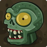 Green zombie head. Vector illustration Royalty Free Stock Photo