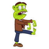 Green Zombie People with standing leg Royalty Free Stock Image