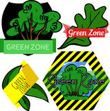 Green Zone badge set Stock Image