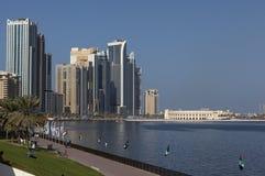 Green zone by Khalid Lagoon. Sharjah. UAE. Royalty Free Stock Photography