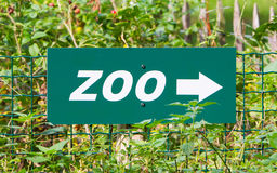 Green zoo' sign Royalty Free Stock Photography