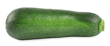 Green zucchini. Fresh green zucchini isolated on a white Royalty Free Stock Image