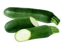 Green zucchini Royalty Free Stock Images