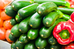 Green zucchini. Fresh Green zucchini on market. Raw food stock images