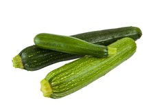 Green zucchini isolated Stock Photos