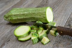 Green zucchini Royalty Free Stock Photo