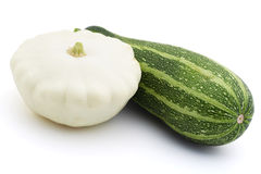 Green zucchini  and pattypan Royalty Free Stock Image