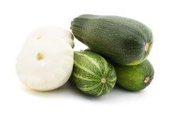 Green zucchini  and pattypan Stock Photo