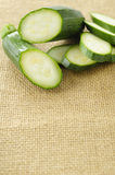 Green zucchini with sliced Royalty Free Stock Photo