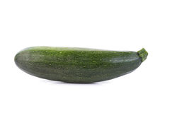 Green zucchini vegetables  on white Royalty Free Stock Photo