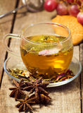 Greena tea infusion cup Stock Image