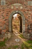 Greenback castle. Archway Royalty Free Stock Photo