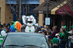 Greenback. This photo was taken during St. Patrick's Day in Bloomington Normal, Illinois Royalty Free Stock Image