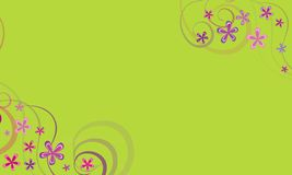 Greenbackground with spring ornaments Royalty Free Stock Photos