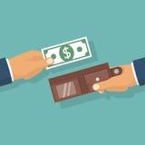 greenbacks hand money payday success τοποθέτηση Στοκ Εικόνες