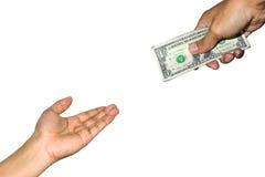 greenbacks hand money payday success Στοκ Φωτογραφίες
