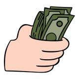 greenbacks hand money payday success Στοκ Εικόνες