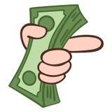 greenbacks hand money payday success Στοκ φωτογραφίες με δικαίωμα ελεύθερης χρήσης