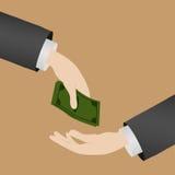 greenbacks hand money payday success Στοκ εικόνα με δικαίωμα ελεύθερης χρήσης