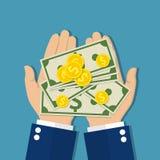 greenbacks hand money payday success Στοκ φωτογραφία με δικαίωμα ελεύθερης χρήσης