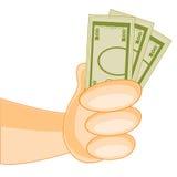 greenbacks hand money payday success Στοκ εικόνες με δικαίωμα ελεύθερης χρήσης