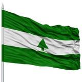 Greenbelt City Flag on Flagpole, USA Royalty Free Stock Photo
