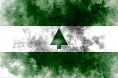Greenbelt city smoke flag, Maryland State, United States Of Amer. Ica Royalty Free Stock Photos