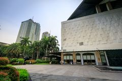 Greenbelt shopping mall on Sep 4, 2017 in Makati, Metro Manila,. Philippines- Cityscape stock photography