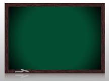 Greenboard vazio com frame de madeira Imagem de Stock
