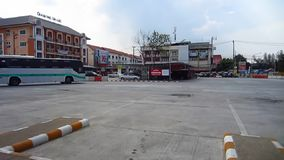 Greenbus bus route Thungchang and Chiangmai. CHIANGMAI, THAILAND - MAY 24 2012 : Greenbus company bus route Thungchang and Chiangmai. Footage at Chiangmai Bus stock video footage