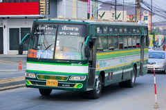 Greenbus company bus route Chiangrai and Chiangmai. Royalty Free Stock Photography